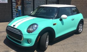 WrapStar Pro- Mini Cooper Tiffany Blue Color Change Like Paint Wrap